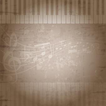 Fondo musical desgastado