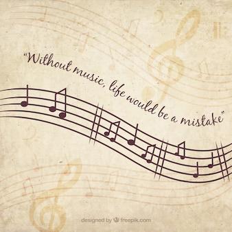 Fondo musical vintage