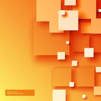 Fondo naranja con cuadrados