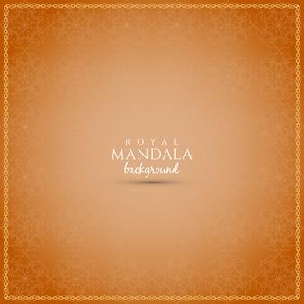 Fondo naranja con diseño de mandala