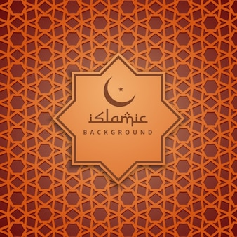 Fondo naranja de la cultura islámica
