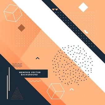 Fondo naranja y negro con formas geométricas