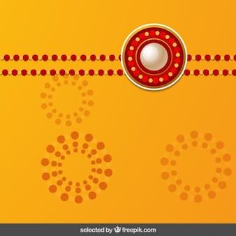 Fondo naranja y rojo Rakhi