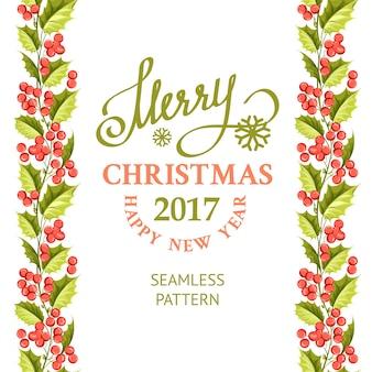Fondo navideño con lindos muérdagos