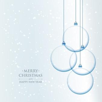 Fondo navideño de bolas de cristal