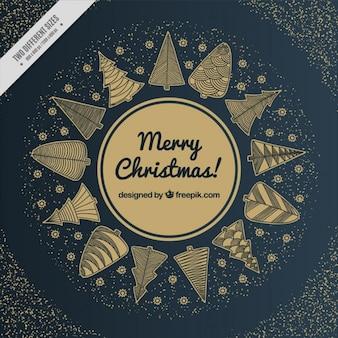 Fondo navideño negro y dorado