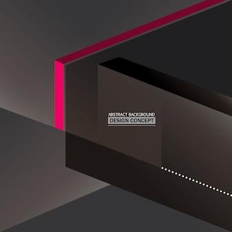 Fondo negro con detalles rosas