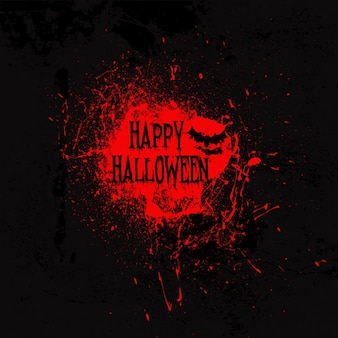 Fondo negro con una mancha de sangre para halloween