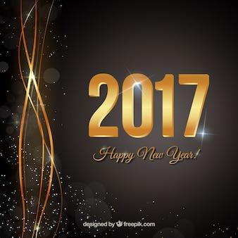 Fondo negro de feliz año nuevo
