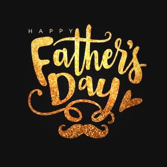 Fondo negro del día del padre con letras brillantes