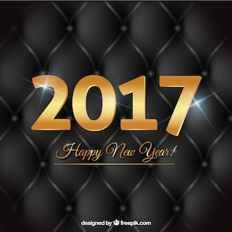 Fondo negro elegante de año nuevo