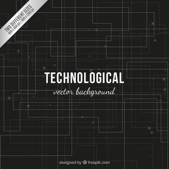 Fondo negro tecnológico