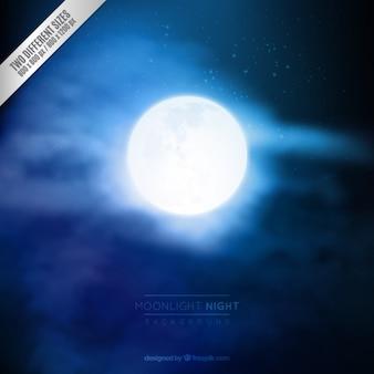 Fondo noche luz de luna