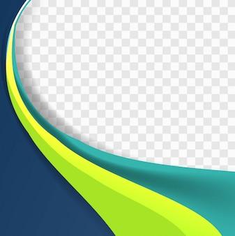 Fondo ondulado azul y verde