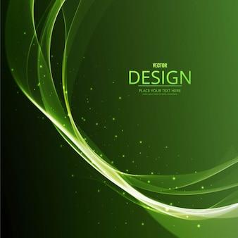 Fondo ondulado brillante verde