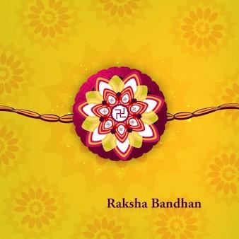Fondo ornamental amarillo de raksha bandhan