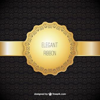 Fondo ornamental con cinta elegante