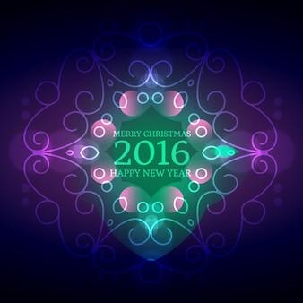 Fondo ornamental de año nuevo 2016