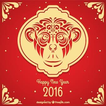 Fondo ornamental de año nuevo chino del mono