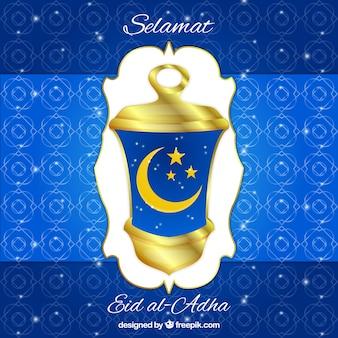 Fondo ornamental de eid al-adha