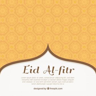 Fondo ornamental de eid al-fitr