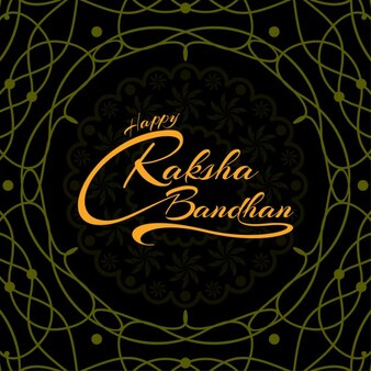 Fondo ornamental de feliz raksha bandhan