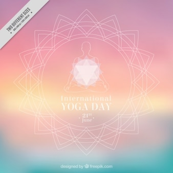 Fondo ornamental desenfocado de yoga