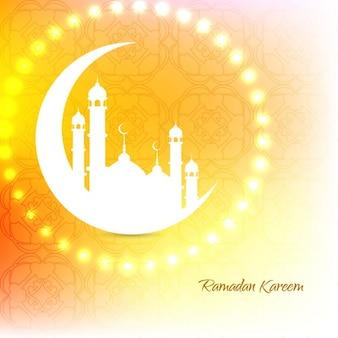 Fondo ornamental islámico brillante