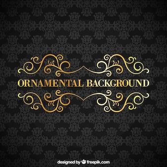Fondo ornamental negro