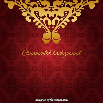 Fondo ornamental rojo