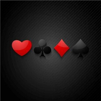 Fondo oscuro con cuatro símbolos