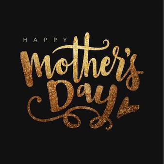 Fondo oscuro con letras brillantes para el día de la madre