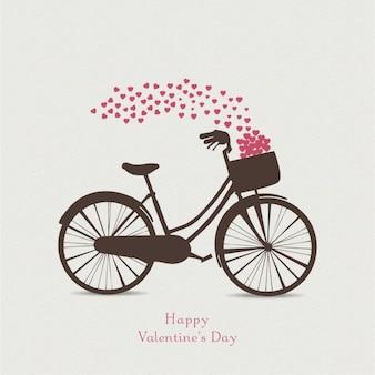 Fondo para san valentín con una bicicleta