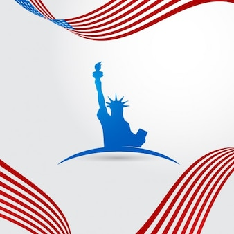 Fondo patriótico del cuatro de julio
