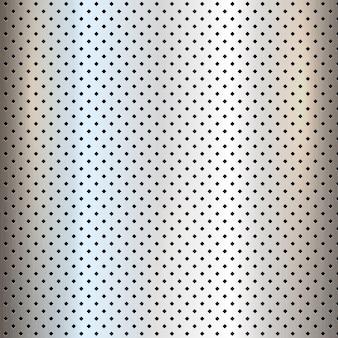 Fondo perforado de textura de metal de plata