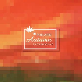 Fondo Pixelated del otoño