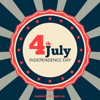 Fondo plano con detalles rojos para el día de la independencia