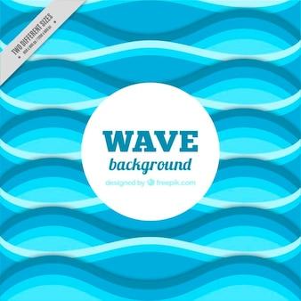 Fondo plano con forma de ola