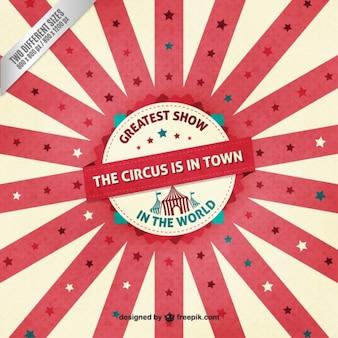 Fondo plano de circo en diseño vintage