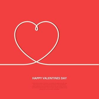 Fondo plano de Día de San Valentín
