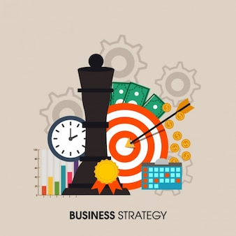 Fondo plano de estrategia empresarial