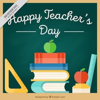 Fondo plano de feliz día del profesor