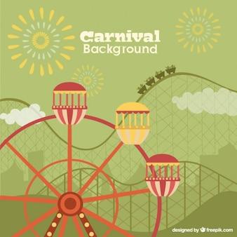 Fondo plano de parque de atracciones