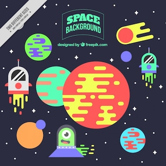 fondo plano espacio colorido