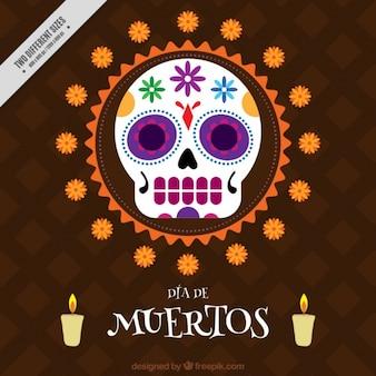 Fondo plano para celebrar el día de los muertos