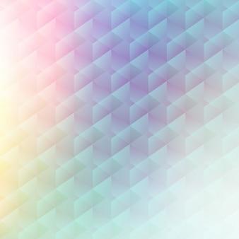 Fondo poligonal abstracto en colores pasteles