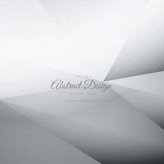 Fondo poligonal abstracto gris