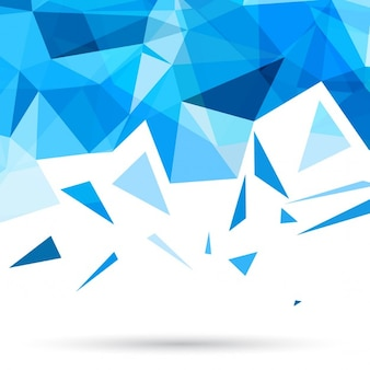 Fondo poligonal azul con triángulos