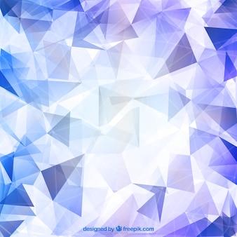 Fondo poligonal brillante de diamante