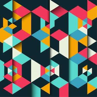 Fondo poligonal colorido